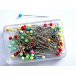 E - Plastic/Glass headed Pins