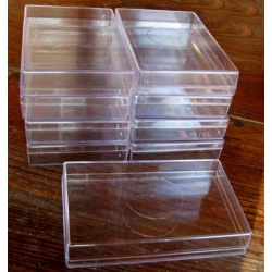 Plastic Box Size 4 Medium Flat. Carton of 5