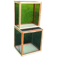 FLAT-PACK WOODEN & NETTING CAGE